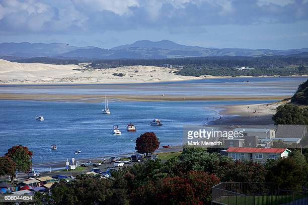 the town of mangawhai heads and estuary - northland new zealand stock pictures, royalty-free photos & images