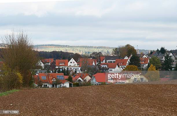 The town of Marburg Michelbach where accused Russian spies with the aliases Andreas and Heidrun Anschlag last lived is pictured on November 7 2012 in...