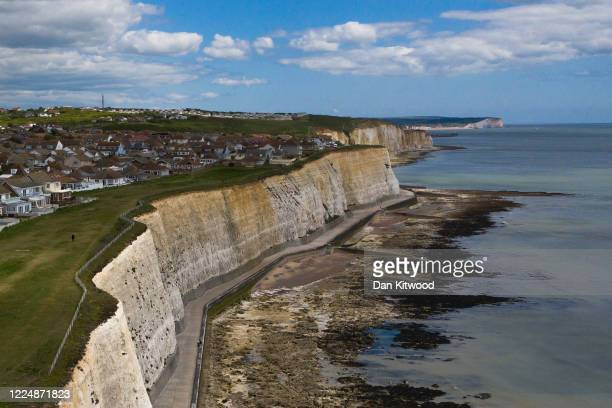 The town of Peacehaven sits above the chalk cliffs of the South Downs on May 14 2020 in Peacehaven East Sussex A 2016 study published in the...