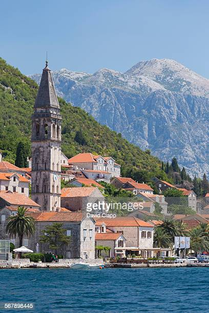 The town of Perast, the Bay of Kotor in Montenegro