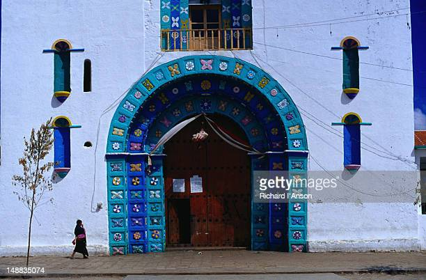 The town of San Juan Chamula is home to numerous Tzotzil groups, almost 40,000 strong and the locals come to town for the market and to gather at church, it is strictly forbidden to take photos within the church - San Cristobal de Las Casas, Chiapas
