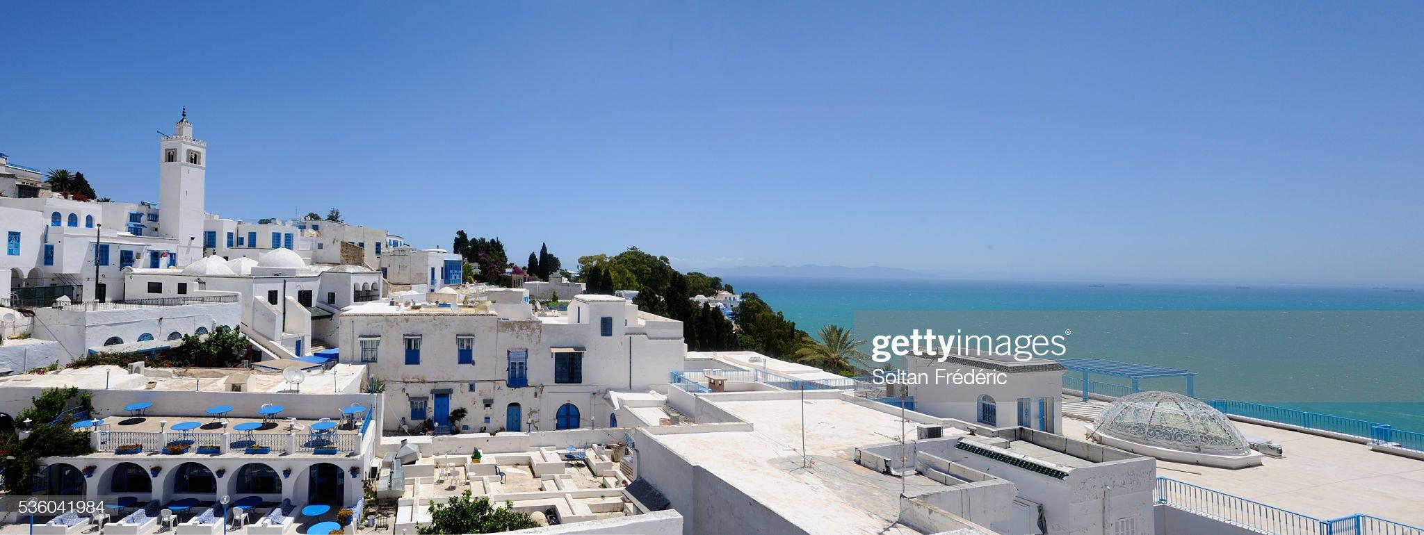 The town of Sidi Bou Said : Foto stock