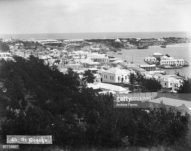 The town of St George's on St George's Island Bermuda