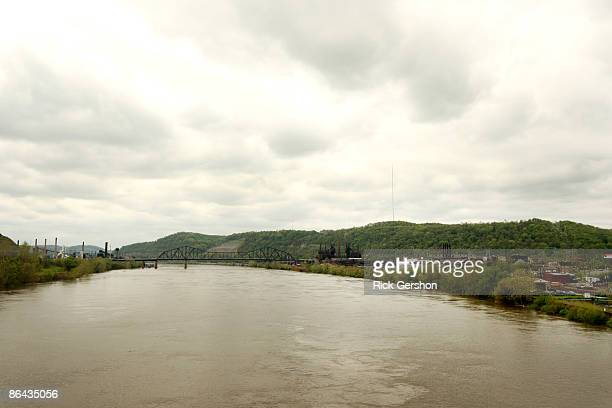 The town of Steubenville sits near the Ohio River on May 5 2009 on the edge of Steubenville Ohio The Severstal Wheeling Steel Mill one of the town's...