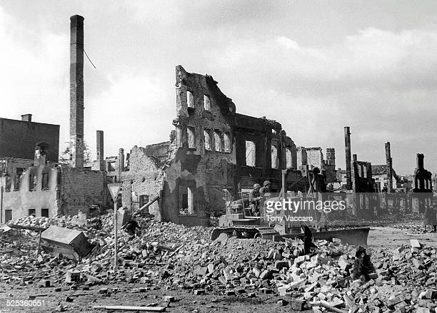 The town of Zerbst east of the Elbe Germany World War II April 1945