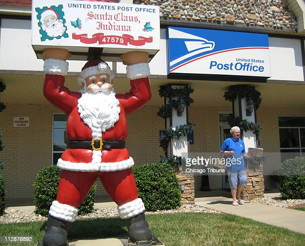The town post office at Santa Claus Indiana is adorned in Christmas decorations year round Nearly 10000 letters addressed to Santa Claus is sent here...