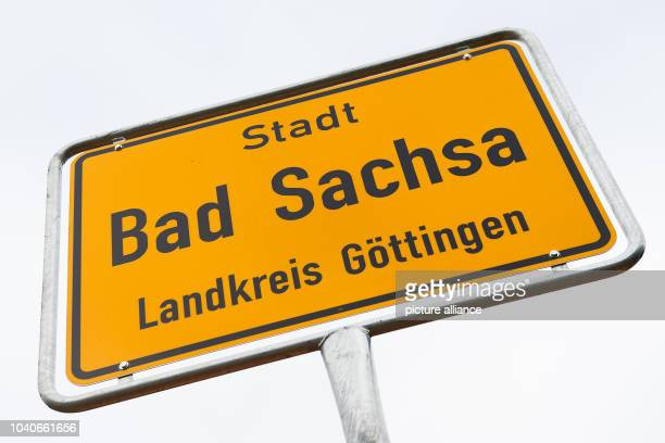 The town sign written with 'City Bad Sachsa County Goettingen' stands inBad Sachsa Germany 31 October 2016 The counties of Goettingen and Osterode...