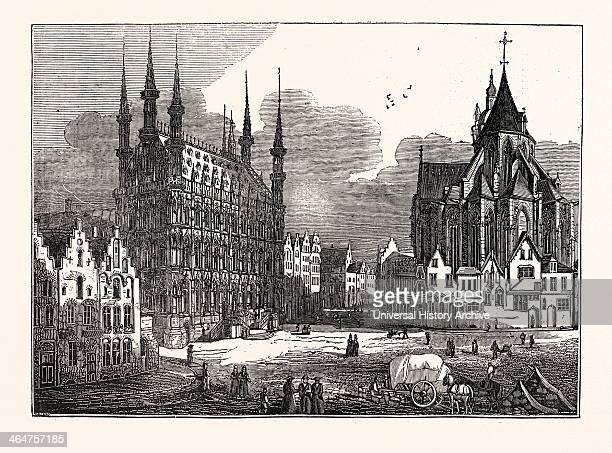 The Townhall And Church Of St Peter Louvain Belgium