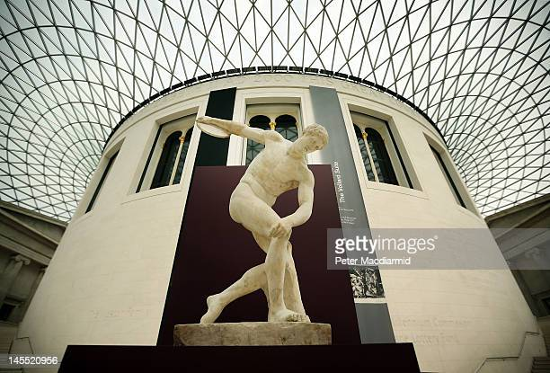 The Townley Discobolus is displayed in The British Museum's 'Winning at the ancient Games' victory trail on June 1 2012 in London England To...