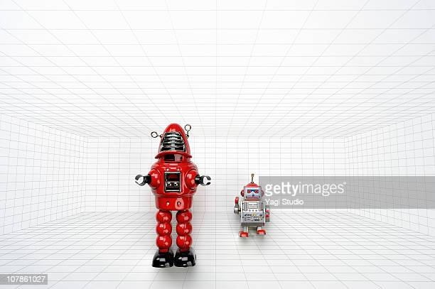 The toy of the robot of the tinplate and figure