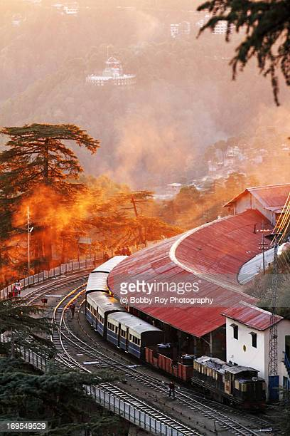 the toy train - shimla stock pictures, royalty-free photos & images