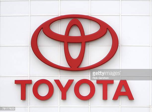 The Toyota emblem is on display at the Pat Lobb Toyota dealership January 23 2008 in McKinney Texas General Motors lost its spot as the world's top...