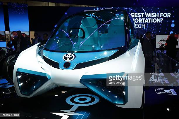 The Toyota FCV Plus a hydrogen fuel cell concept vehicle which capable to generate electricity directly from hydrogen stored outside and operate as a...