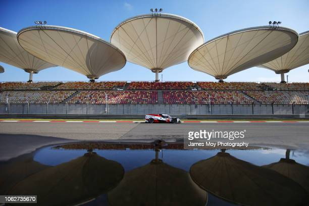 The Toyota Gazoo Racing TS050 Hybrid of Mike Conway Kamui Kobayashi and Jose Maria Lopez in action during qualifying for the WEC 6 Hours of Shanghai...