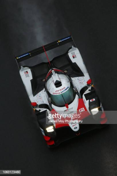 The Toyota Gazoo Racing TS050 Hybrid of Mike Conway Kamui Kobayashi and Jose Maria Lopez in action during the WEC 6 Hours of Shanghai round 5 of the...