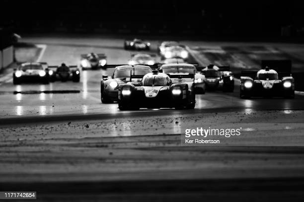 The Toyota Gazoo Racing TS050 Hybrid of Mike Conway Kamui Kobayashi and Jose Maria Lopez drives on its way to winning the FIA World Endurance...
