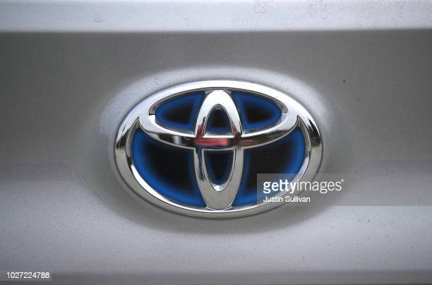 The Toyota logo is displayed on car on the sales lot at City Toyota on September 5 2018 in Daly City California Toyota annouced plans to recall over...
