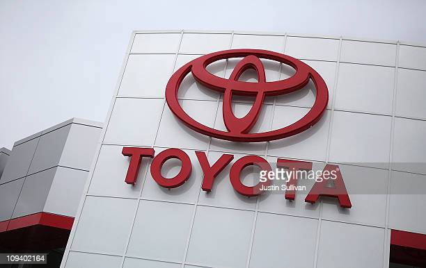 The Toyota logo is displayed on the exterior of a Toyota dealership on February 24, 2011 in Oakland, California. Toyota announced today that it will...