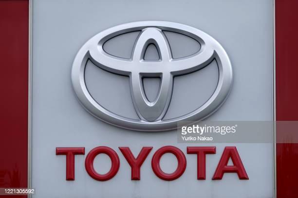 The Toyota logo is seen outside a dealer in Noordwijk, Netherlands.