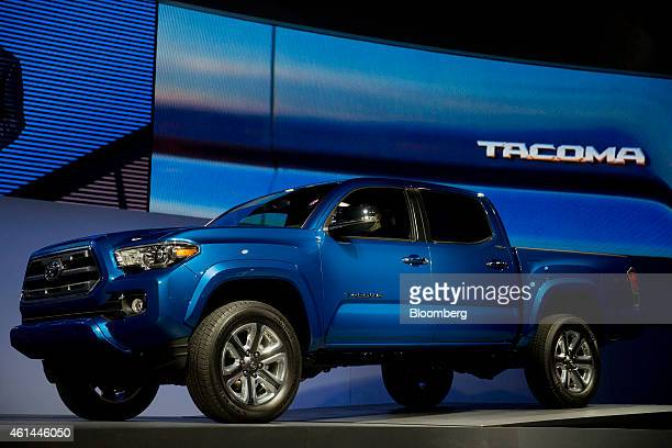 The Toyota Motor Co 2016 Tacoma truck is unveiled during the 2015 North American International Auto Show in Detroit Michigan US on Monday Jan 12 2015...