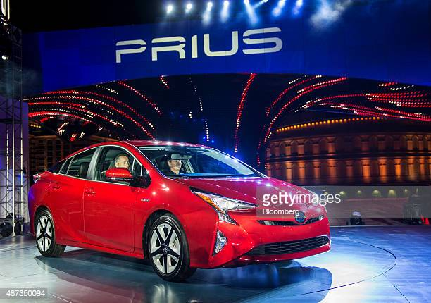 The Toyota Motor Corp 2016 Prius hybrid vehicle sits on display after being unveiled in Las Vegas Nevada US on Tuesday Sept 8 2015 Toyota revealed...