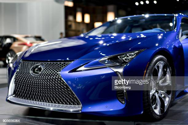 The Toyota Motor Corp Lexus LC 500 vehicle is displayed during the 2018 North American International Auto Show in Detroit Michigan US on Tuesday Jan...