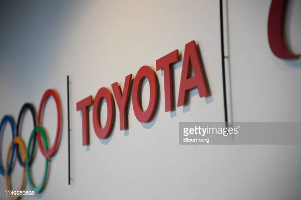The Toyota Motor Corp. Logo is displayed at the company's headquarters in Toyota, Aichi Prefecture, Japan, on Wednesday, June 12, 2019. Toyota...