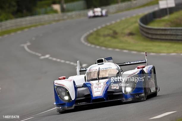 The Toyota Racing Toyota TS 030 Hybrid driven by Alexander Wurz of Austria Nicolas Lapierre of France and Kazuki Nakajima of Japan during practice...