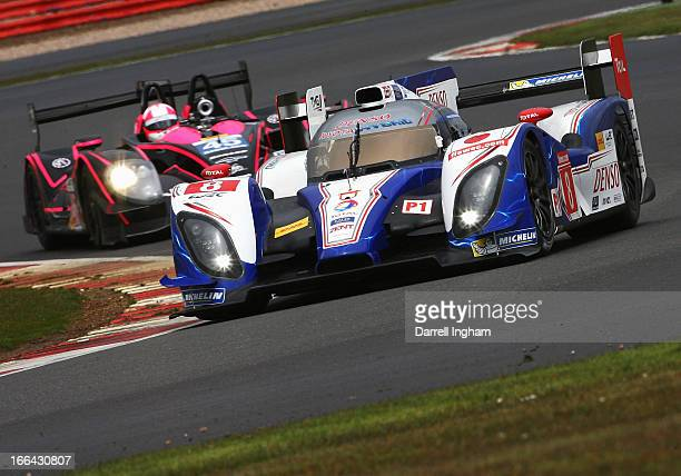 The Toyota Racing Toyota TS030 Hybrid driven by Anthony Davidson of Great Britain, Sebastien Buemi of Switzerland and Stephane Sarrazin of France...