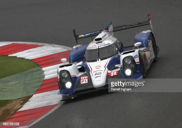 The Toyota Racing Toyota TS040 Hybrid LMP1 driven by Sebastien Buemi of Switzerland, Nicolas Lapierre of France and Anthony Davidson of Great Britain...