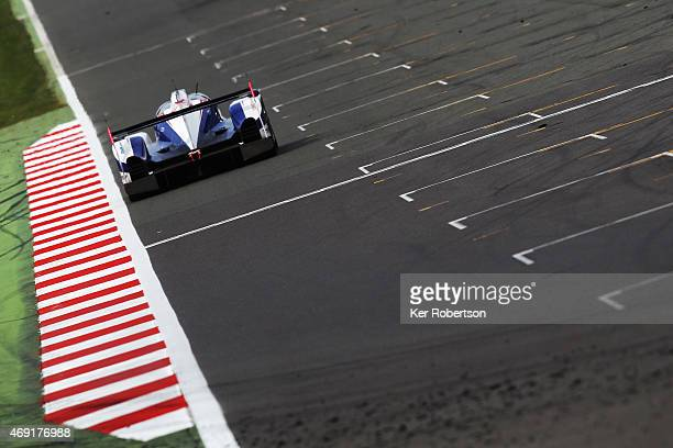 The Toyota Racing TS040 Hybrid of Alexander Wurz Stephane Sarrazin and Mike Conway drives during practice for the FIA World Endurance Championship 6...