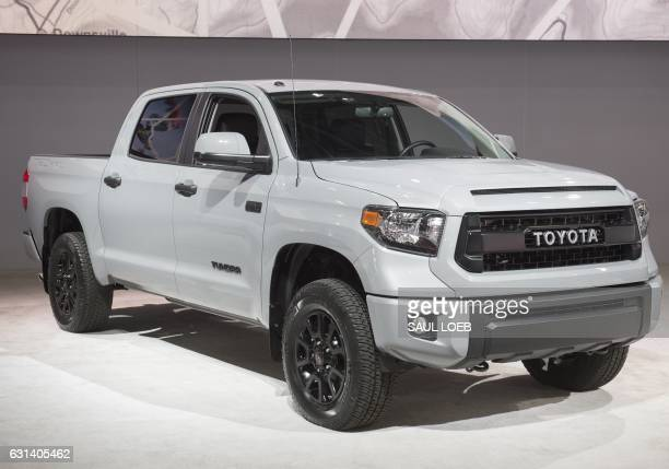 The Toyota Tundra pickup truck is seen during the 2017 North American International Auto Show in Detroit Michigan January 10 2017 / AFP / SAUL LOEB