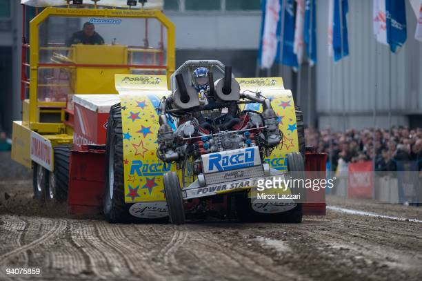 The Tractor Pulling exibition during the Motor Show 2009 on December 6 2009 in Bologna Italy