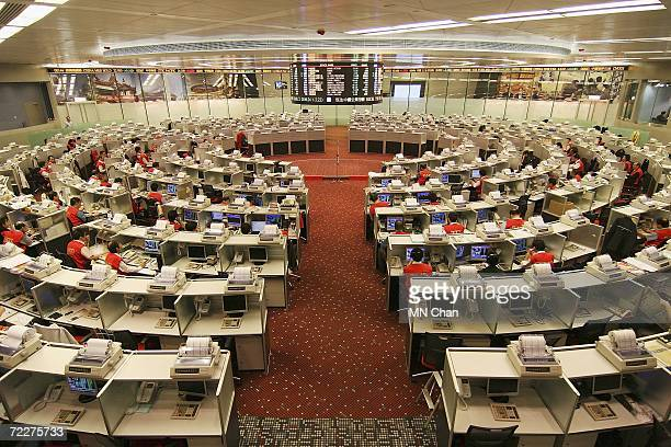 The trading floor of Hong Kong Stock Exchange shows Industrial and Commercial Bank Of China's stock price after the ceremony to mark their Initial...