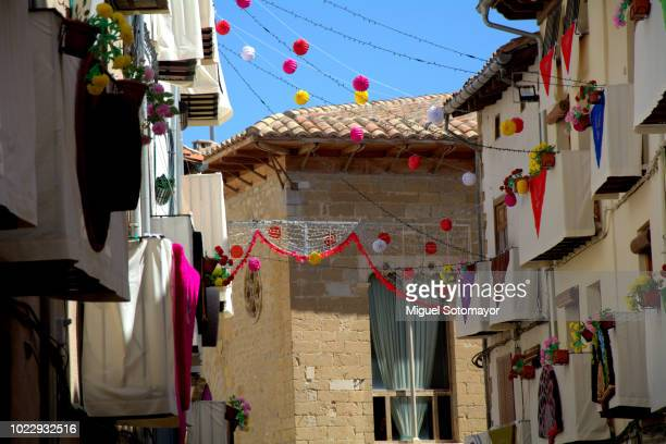 the tradiononal festival of the sexeni of morella - castellon province stock pictures, royalty-free photos & images