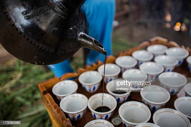 The traditional coffee in Ethiopia