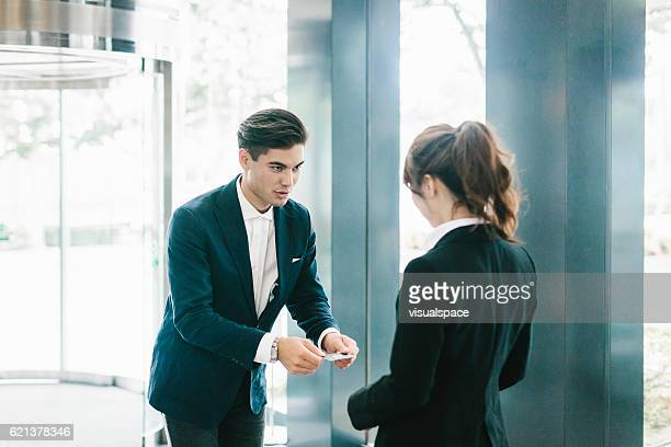 The Traditional Exchanging of a Business Card