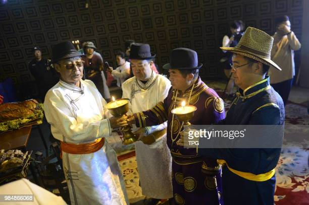 The traditional fiesta to memorize the founder of the Mongol empire genghis khan be held on 26 June 2018 in HohhotInner Mongolia China