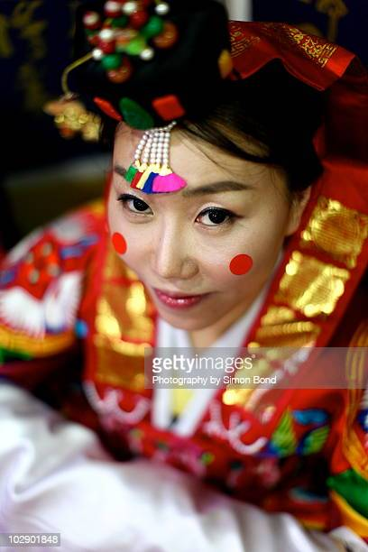 The traditional Korean bride
