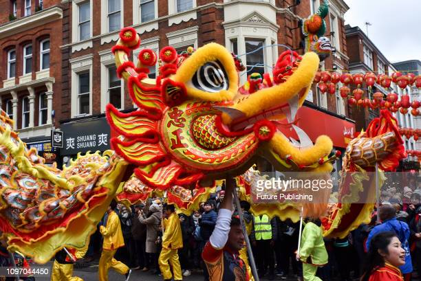 The traditional parade in London to celebrate the Chinese New Year the year of the Pig PHOTOGRAPH BY Matthew Chattle / Barcroft Images