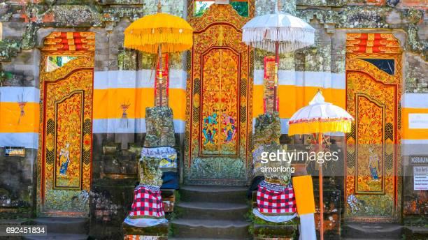 The Traditional Temple Door In Ubud, Bali