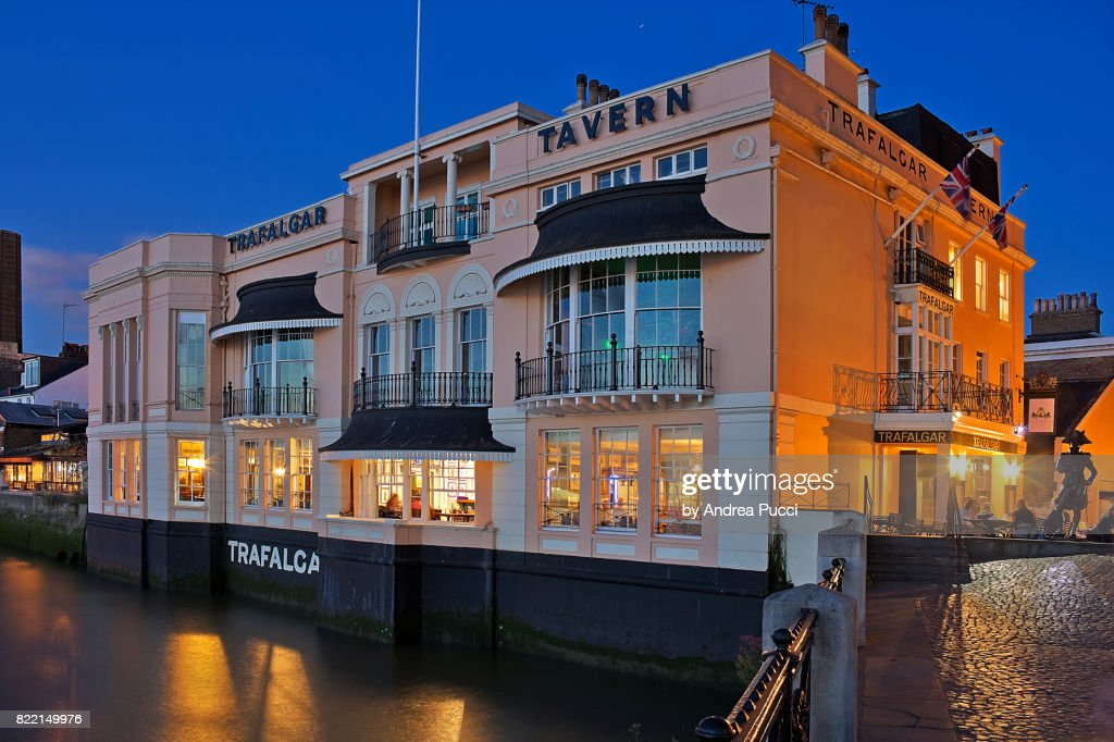 The Trafalgar Tavern, Greenwich, London, United Kingdom : Stock Photo