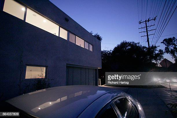 The traffic along Laurel Canyon Blvd goes by Rob and Corrine Glass's house in Studio City Wednesday January 03 2007 The house was built on what was...