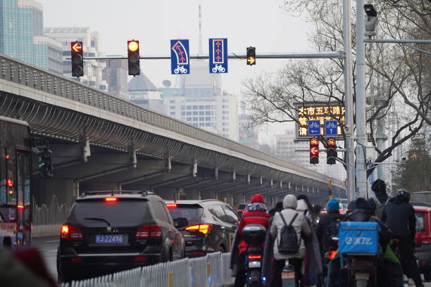 CHN: Traffic Signal Lights For The Cyclists Put Into Use In Beijing