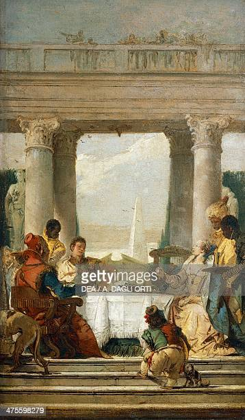 The Tragedy of Antony and Cleopatra the Banquet by Giovanni Battista Tiepolo oil on canvas 67x41 cm 18th century Stoccolma Stockholms Universitets...