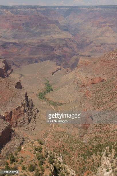 The trail below the rim along the Bright Angel trail in the Grand Canyon National Park One of the United States oldest National Parks the Grand...
