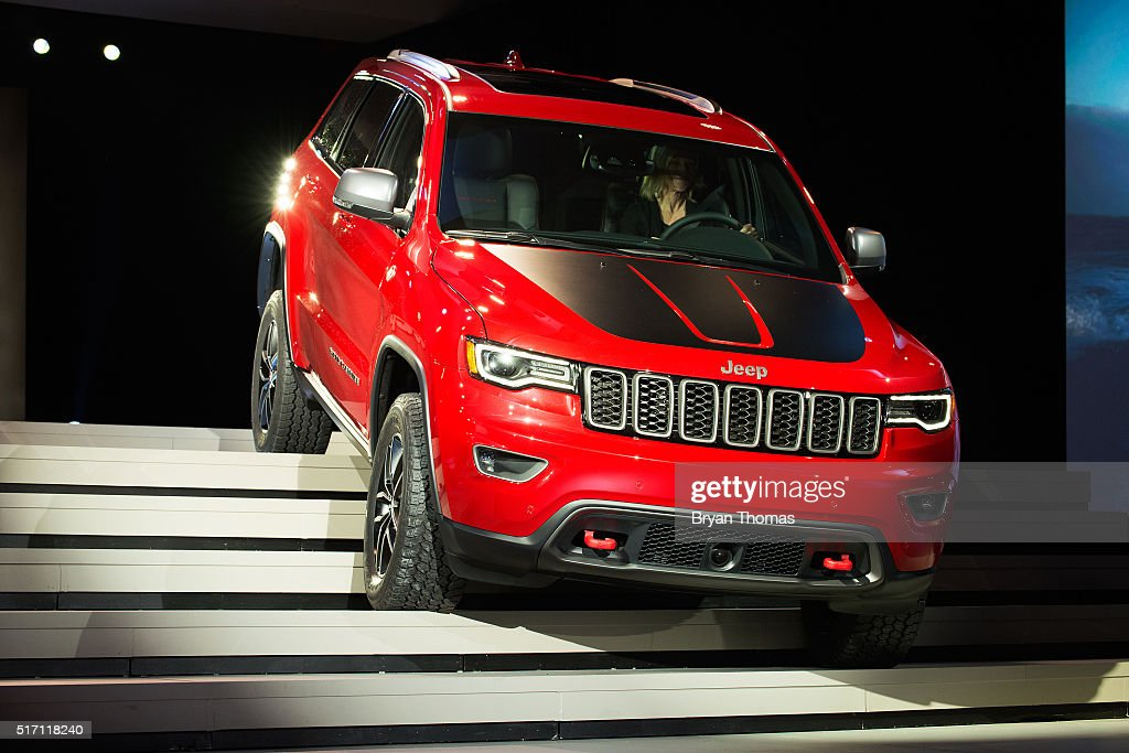 The Trailhawk version of the Jeep Grand Cherokee is introduce at the New York International Auto Show at the Javits Center on March 23, 2016 in New York City. Head of Jeep Brand Mike Manley introduced the Summit, a model built for luxury, as well as the Trailhawk, a model built for off-road use.