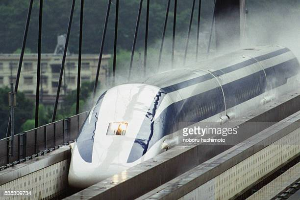 The train can reach 500 km/hr Its free levitating principle reduces noise and vibration