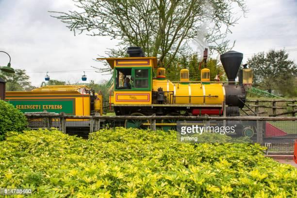 The train of amusement park