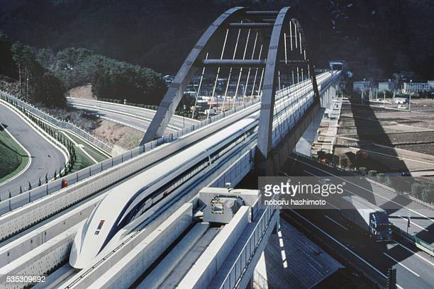 The train reaches 500 km/hr Its free levitating principle reuces noise and vibration